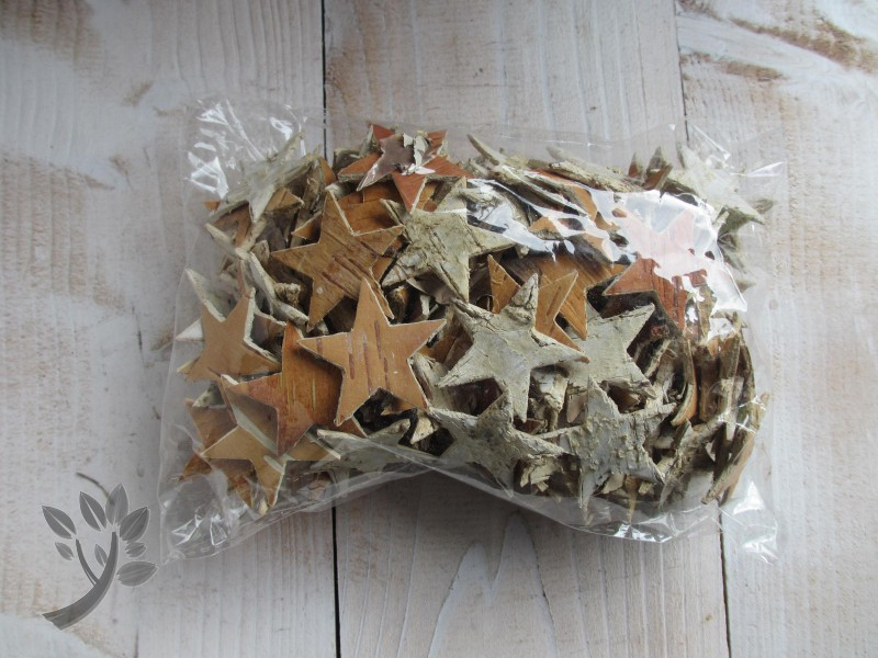 150 streuteile holz birke weihnachten tischdeko stern for Tischdeko birke