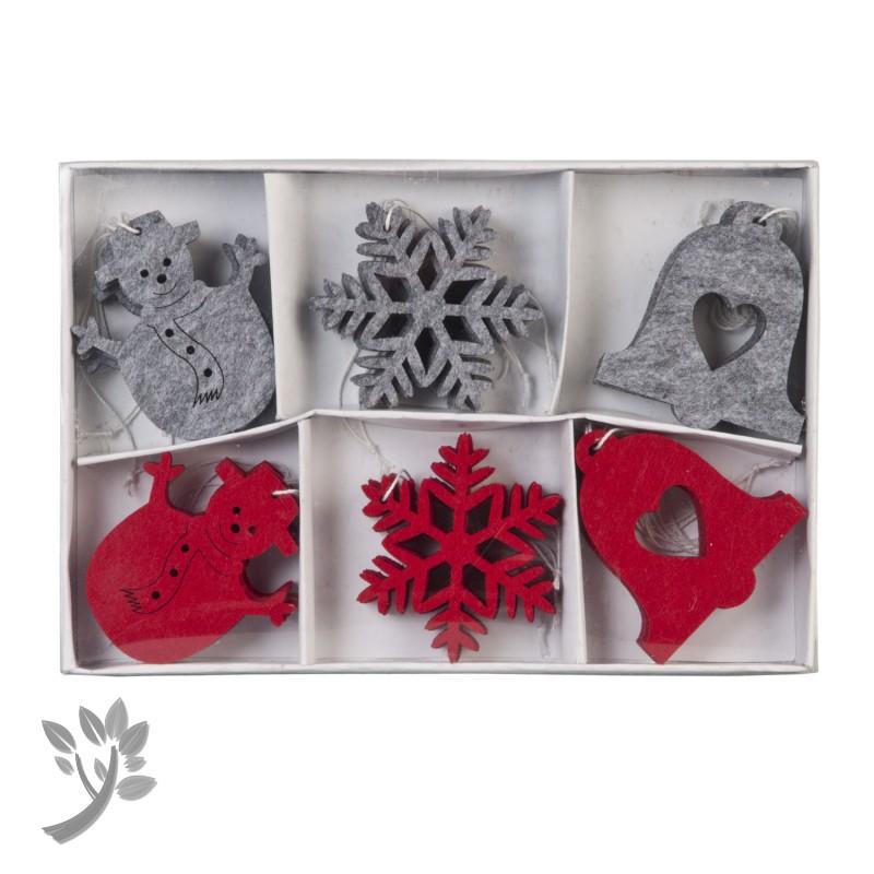 24 x baumschmuck weihnachten christbaumschmuck filz rot. Black Bedroom Furniture Sets. Home Design Ideas