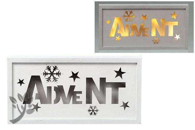 leuchtbild led bild advent weihnachten wandbild sterne holz holzrahme. Black Bedroom Furniture Sets. Home Design Ideas