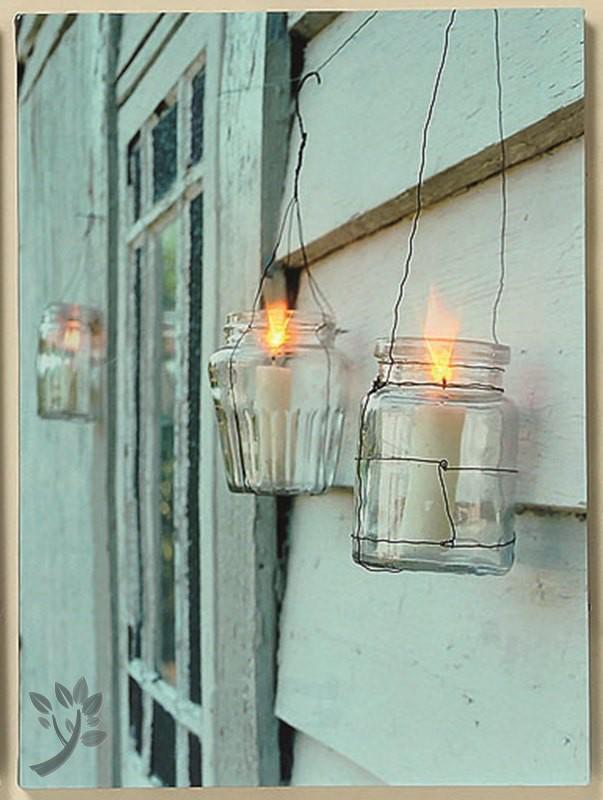 leuchtbild led bild kerzen wandbild kerzen auf leinwand. Black Bedroom Furniture Sets. Home Design Ideas