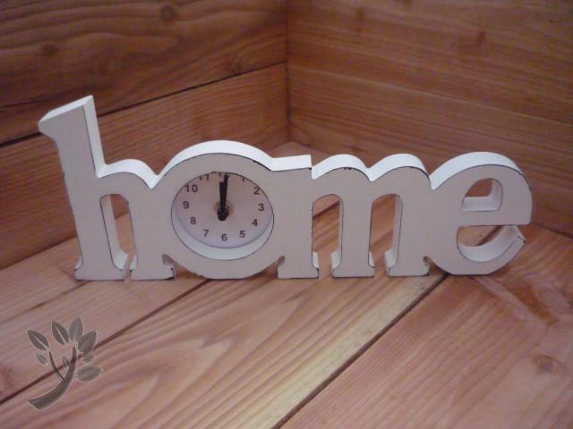 tischuhr landhaus wei uhr holz shabby chic uhr home. Black Bedroom Furniture Sets. Home Design Ideas