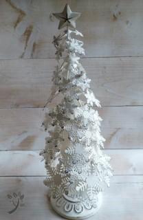 clayre eef weihnachtsbaum metall wei tanne baum landhaus. Black Bedroom Furniture Sets. Home Design Ideas