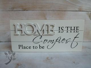 holzschild home t rschild holz shabby chic creme schriftzug spr. Black Bedroom Furniture Sets. Home Design Ideas