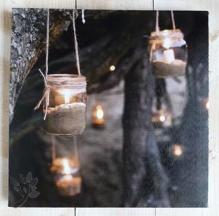 leuchtbild led bild beleuchtet kerze laterne wandbild. Black Bedroom Furniture Sets. Home Design Ideas