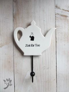 Wandhaken Küche Zeit für Tee Handtuchhalter Geschirrtuchhal