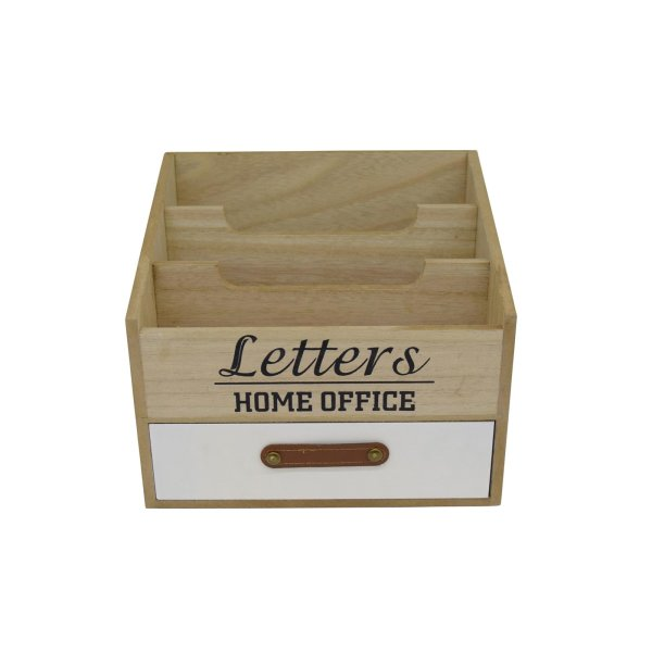 Briefablage LETTERS Postablage Holz Briefständer Shabby Briefbox home office