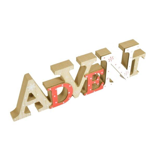Holzschild Schriftzug ADVENT Holz Shabby Deko Buchstaben Weihnachten ...