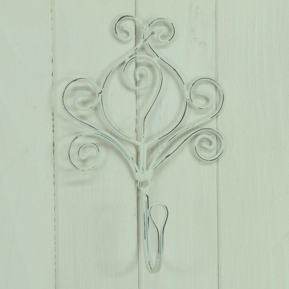 Haken Wandhaken Kleiderhaken Handtuchhaken Garderobenhaken Blume Metall Shabby