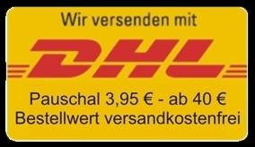 Versand pauschal 3,95 € - ab 40 €Bestellwert versandkostenfrei!